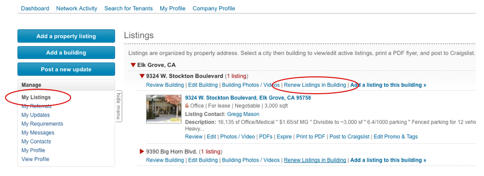 renew listings on rofo