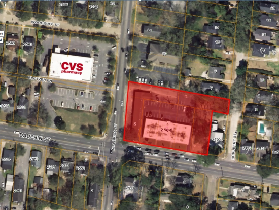 Land Available For Lease @ 2504 Dauphin Street, Mobile, AL