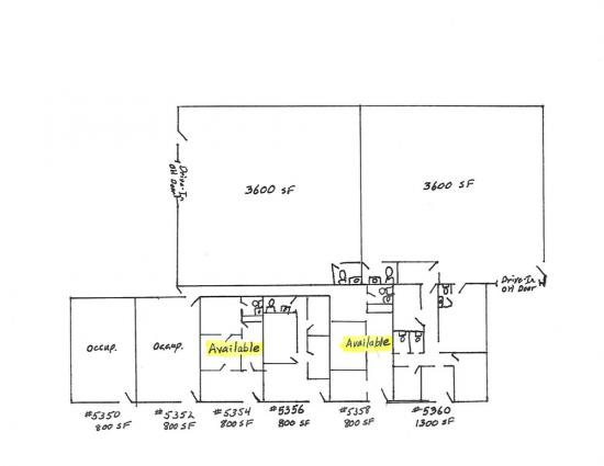 800 Square Foot Industrial Space For Lease 5350 Old